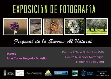 Te adjunto el cartel de una exposición de fotografía que estará expuesta en Fregenal de la Sierra del 16 al 30 de diciembre.
