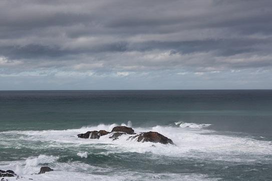 Hoy había más azules que olas en el mar.  Mónica Fernández-Aceytuno