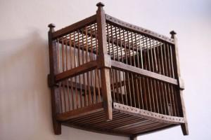 Jaula de madera en la casa de Lope de Vega / Aceytuno