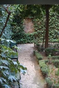 Inocencia del jardín en el patio de la casa de Lope de Vega / Aceytuno