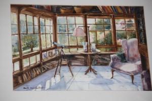 Galería de mi casa pintada por mi tía Berta García Frías
