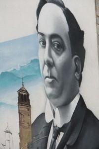Mural de Antonio Machado en Úbeda (Jaén)