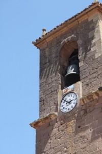 Torre de la iglesia con el caracol de los caracoleros de Tricio / Aceytuno, 19-7-2015