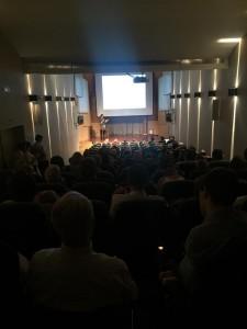 """Auditorio del Museo Lázaro Galdiano el 14-9-2015 para la presentación de """"Lógica Sencilla"""" de Juan Fernández-Aceytuno"""