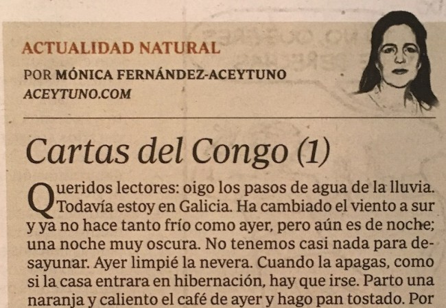 Cartas del Congo