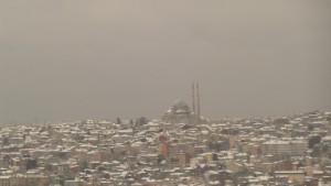 Nieve sobre Estambul tras nevar toda la noche el 19-1-2016 / Aceytuno