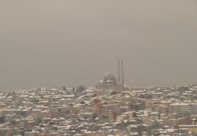 Nieve sobre Estambul, esta mañana