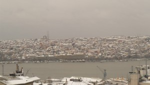 Estambul nevado la mañana del 19-1-2016 / Aceytuno