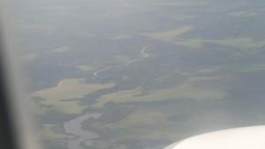Vista aérea de la República del Congo