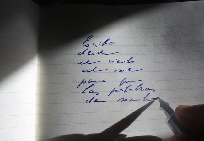 Escritura al sol