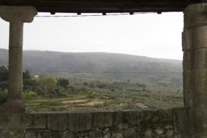 Viendo llover, esperando a que escampe, mirando los rebaños que se ven de lejos, y que se oyen, con el cuco, de cerca. / Aceytuno