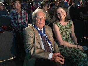 Con el maestro botánico Wolfredo Wildpret, Premio Brote Canarias del FICMEC / Foto: Victoria Eugenia
