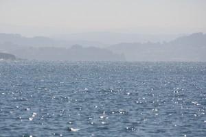 Vista de la Ría cuando miras hacia atrás entrando en el puerto de Ares / Aceytuno
