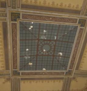 Cristalera del salón general de la Biblioteca Nacional / Aceytuno