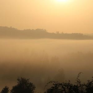 Niebla sobre el valle del río el 7-9-2016 / Aceytuno