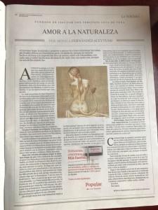 Tercera de ABC del viernes 29 de diciembre de 2017/ AMOR A LA NATURALEZA de Mónica Fernández-Aceytuno con ilustración de José María Nieto.